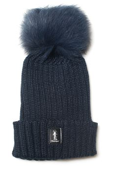Rib hat with pom poms Refrigue | 5032318 | CAP-R85322NAR2WNIGHT BLUE
