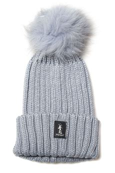 Rib hat with pom poms Refrigue | 5032318 | CAP-R85322NAR2WSTEEL