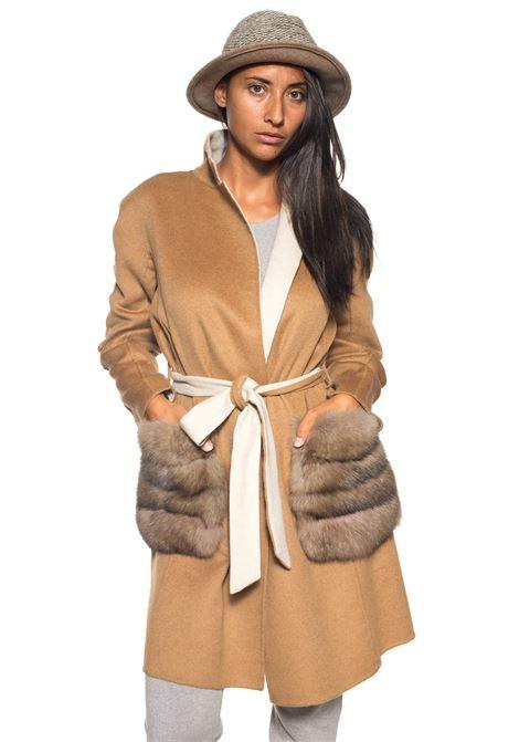 Cappotto in lana Antonella Ponzi | 20000061 | LAN023AHMARRONCINO