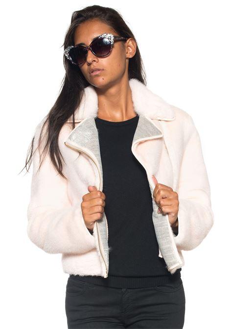 Cropped fur coat Antonella Ponzi | 20000061 | VIS146AHROSA