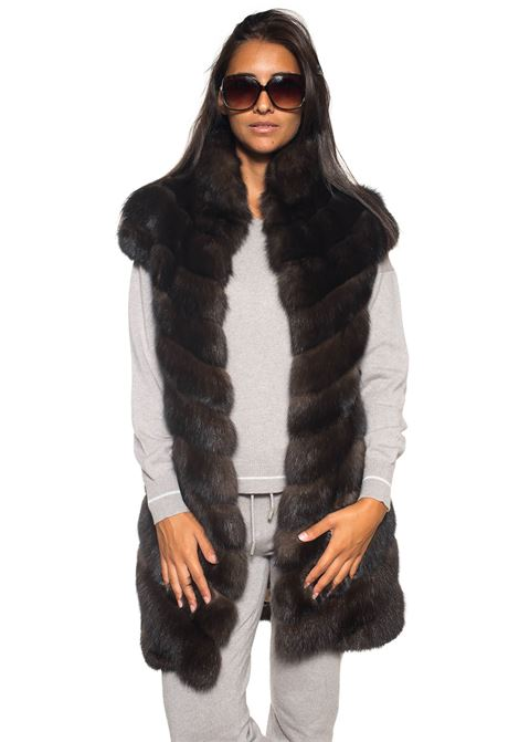 Fur vest Antonella Ponzi | 20000061 | ZIB021A113MARRONE