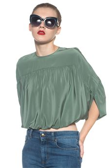 Silk blouse with short sleeves Red Valentino | 40 | NR0AA0S5-23H905