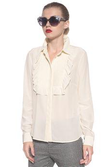 Camicia da donna in seta Red Valentino | 6 | NR3AB165-23HA03