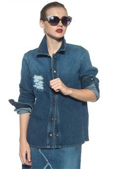 Camicia da donna in jeans Red Valentino | 6 | NR3DB00G-36D558
