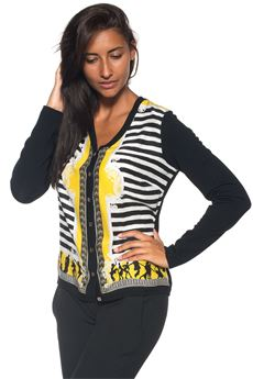 Cardigan manica lunga girocollo Versace Collection | 39 | G34828-G603434G7133