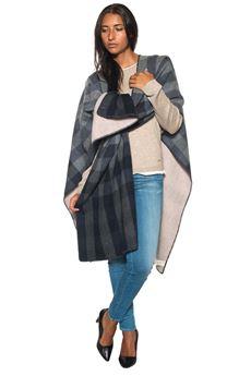 Reversible cape Woolrich | 52 | WWACC1343-AC021679 QUADRO