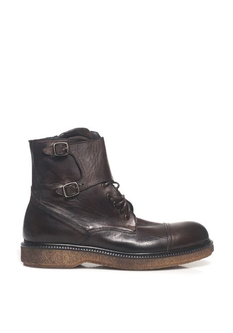 Boot with buckle and laces Angelo Pallotta | 75 | 0571MARRONE