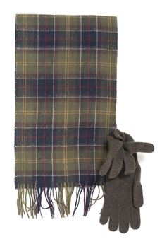 Gloves and scarf set Barbour | 5032240 | BAACC1131-MAC0042TN11