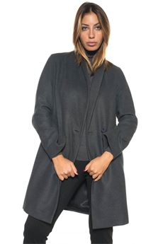 Coat with 1 button Blue Les Copains | 17 | 0J80256101