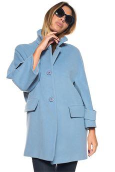Cloth coat Blue Les Copains | 20000057 | 0J80450818