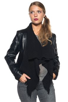 Synthetic leather jacket Luckylu | -276790253 | 24LL-GI04EC0700
