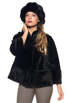 Fur jacket with three quarter sleeve Luckylu | -276790253 | 24LL-PL02EP0700