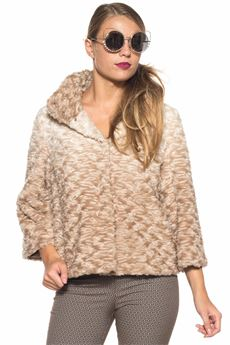 Fur jacket with three quarter sleeve Luckylu | -276790253 | 24LL-PL05EP0045