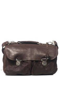 Leather satchel MINORONZONI 1953 | 20000006 | MRF171B101C60