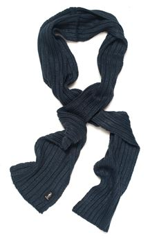 Large ribbed scarf Refrigue | 77 | SCARF-R85007NAS2UNIGHT BLUE