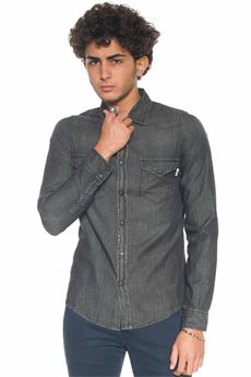 Camicia da uomo in jeans Roy Rogers | 6 | DUDLEY DENIM BLACK998