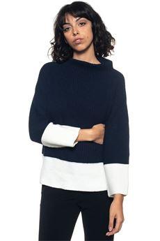 Turtleneck pullover Blue Les Copains | 7 | 0J11902195