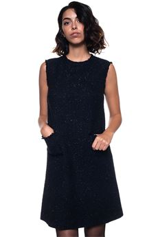 Sheath dress model Blue Les Copains | 130000002 | 0J50056195