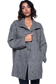 Cloth caban jacket Blue Les Copains | 1631859650 | 0J80413195