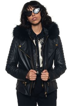 Leather jacket Cavalli Class | -276790253 | ECISB921-97677899