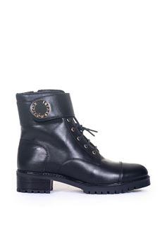 Scarponcino con fibbie e lacci Emporio Armani | 75 | X3N131-XF25500002
