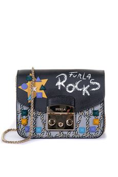 Shoulder bag with chain Furla | 31 | METROPOLIS BTA6-K65TONI ONYX+ONICE