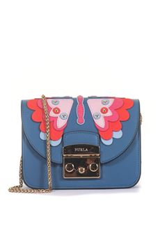 Leather bag Furla | 31 | METROPOLIS PAPILLON BOU1-K58GENZIANA