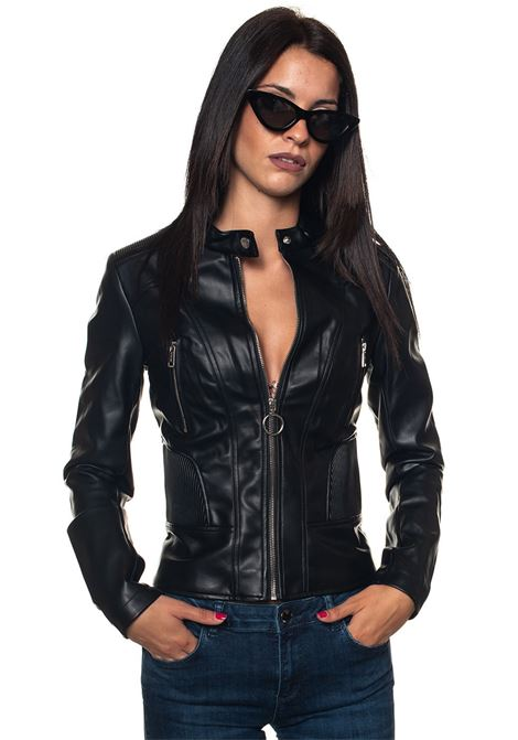 Synthetic leather jacket Guess | -276790253 | W83L23-WAEJ0JBLK