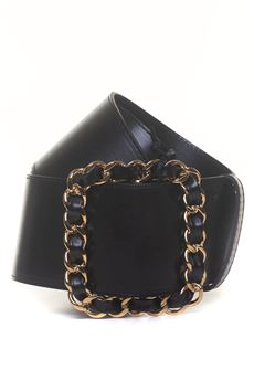 Leather belt big size Guess | 20000041 | W84Z35-L0ET1JBLK