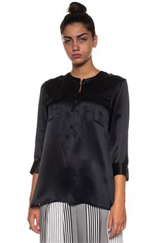 Long sleeved silk blouse Kiton | 6 | D44435K0333702000