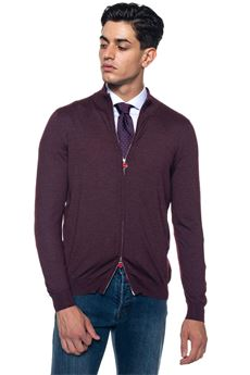 Cardigan with double slide fastener Kiton | -276790253 | UK503/9TI8841S000
