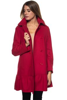 Double-breasted coat Red Valentino | 17 | QR0CA1T2-0NAIA7