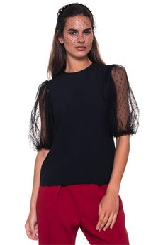 Top in crêpe Red Valentino | 6 | QR3AA105-OWB0NO