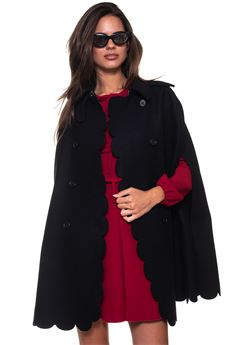 Double-breasted cape Red Valentino | 20000022 | QR3CG060-3SH0NO
