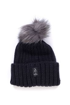 Rib hat with pom poms Refrigue | 5032318 | CAP-R85047NAT2WLEAD