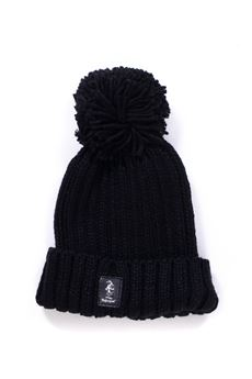 Rib hat with pom poms Refrigue | 5032318 | CAP-R85062NAT2UBLACK