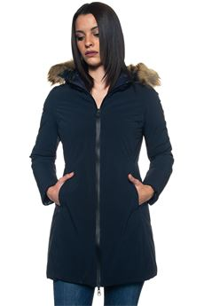 SYN ECO FUR harrington jacket Refrigue | 20000057 | SYN_ECO_FUR-R57523HYT2WDARK BLUE