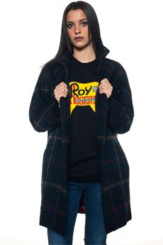 Wide coat Roy Rogers | 17 | COAT 779-WOOL E ALPACABLU/ROSSO/GIALLO