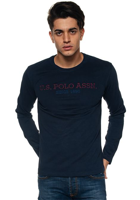 T-shirt with long sleeves and round-neck US Polo Assn | 8 | 50599-34502179