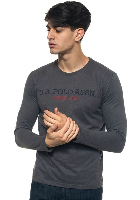 T-shirt with long sleeves and round-neck US Polo Assn | 8 | 50599-34502189