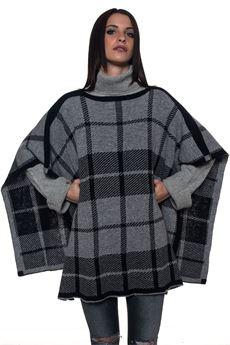 W'S CHECK CAPE kimono sleeve cape Woolrich | 52 | WWACC1396-AC50133