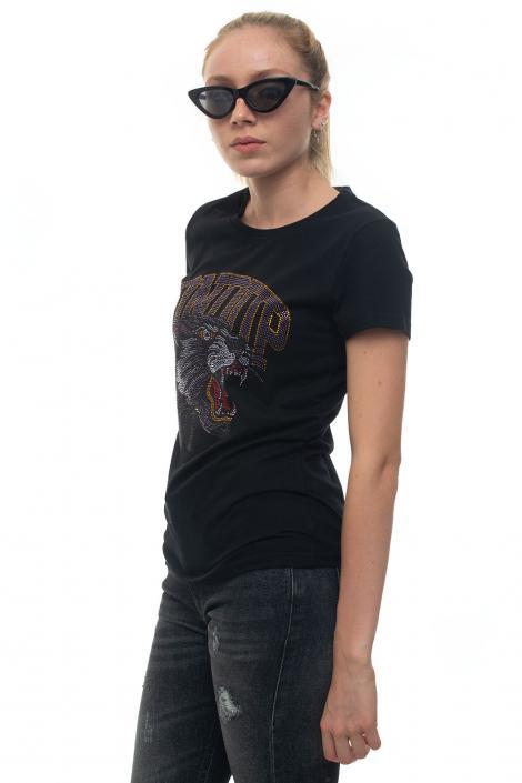 T-shirt girocollo CON STRASS Dondup | 8 | S007 JF0234DZ61