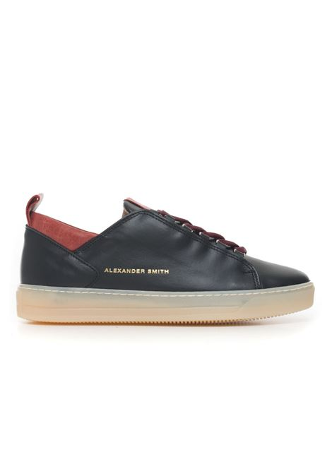 Leather sneakers with laces Alexander Smith | 5032317 | H75407BLACKRED