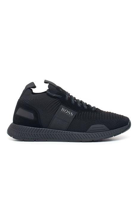 Canvas sneaker BOSS | 5032317 | TITANIUM_RUNN_KNST-50414734001
