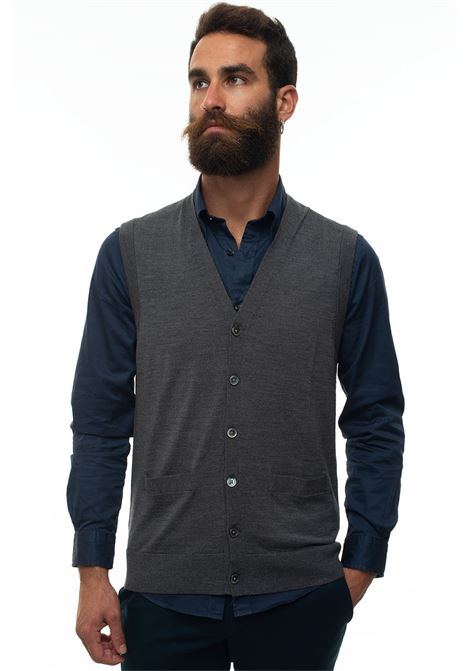 Knitted waistcoat Brooks Brothers | 38 | 127526CHARCOAL