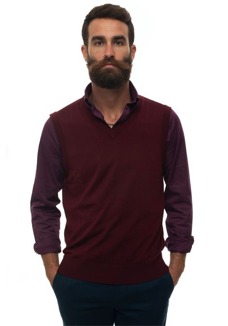 Knitted waistcoat Brooks Brothers | 38 | 127563BURGUNDY