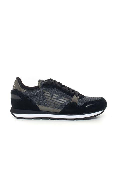 Suede and rubber sneaker Emporio Armani | 5032317 | X3X058-XL617E593