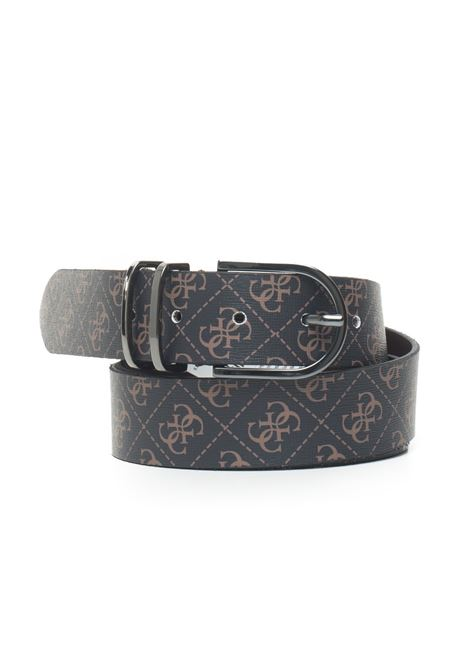 Manhattan buckle belt with logo detail Guess | 20000041 | BM7225-VIN35BRO