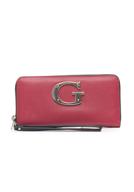 Camila Rectangular purse with zip in leather Guess | 63 | SWVG74-00460RML