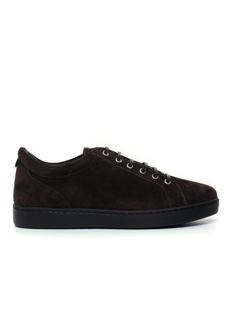 Leather sneakers with laces Kiton | 5032317 | USSNERON0040102000